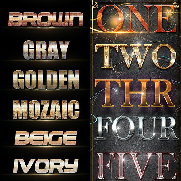 30 Bundle 3D Text Styles D6-D8