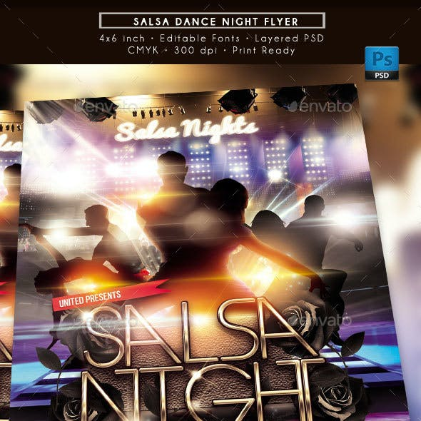 Salsa Dance Night Flyer