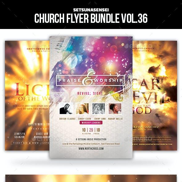 Church Flyer Bundle Vol. 36
