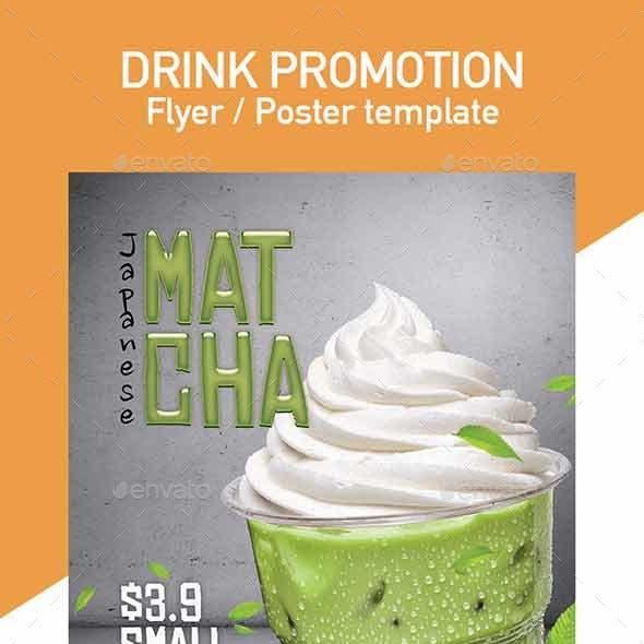 Matcha & Houjicha Flyer / Poster Template
