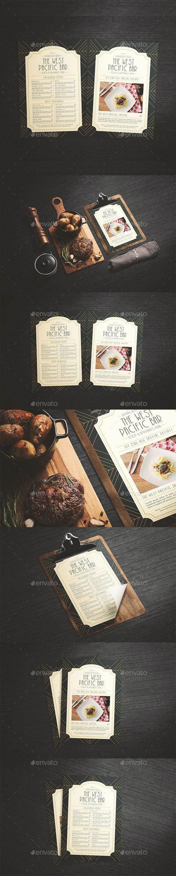 Art Deco Menu - Food Menus Print Templates