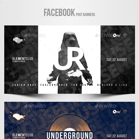 Electronic Music Party vol.27 - Facebook Post Banner Templates