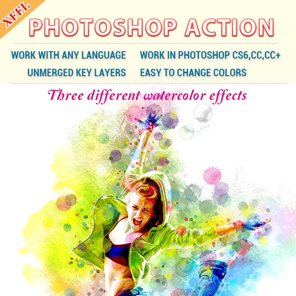 Watercolor Art V3 Photoshop Action
