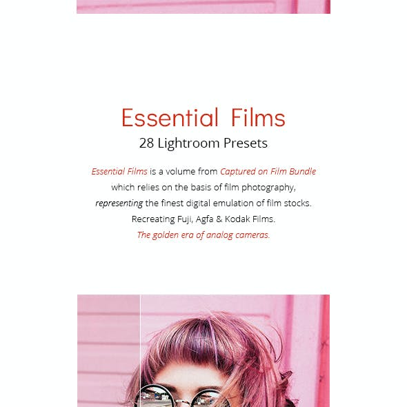 28 Essential Films - Lightroom Presets