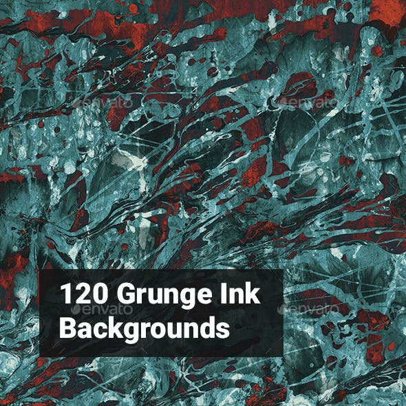 120 Grunge Ink Backgrounds