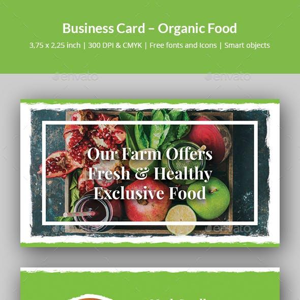 Business Card – Organic Food