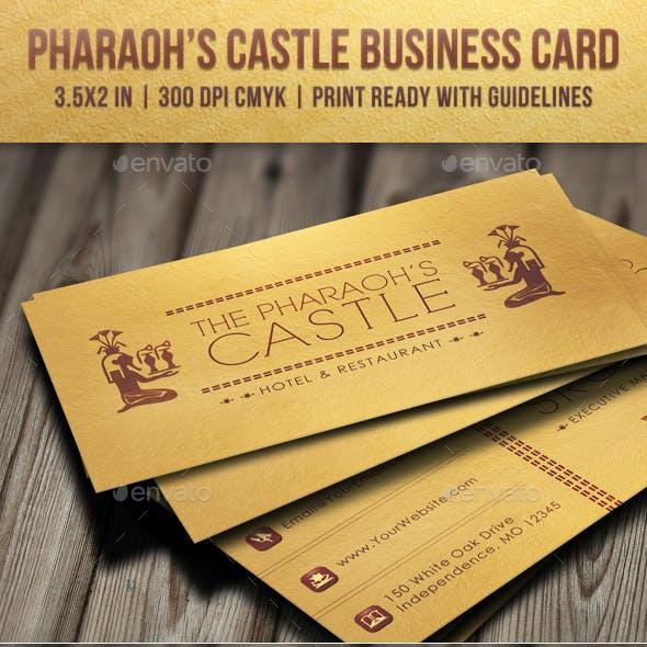 Pharaoh's Castle Business Card