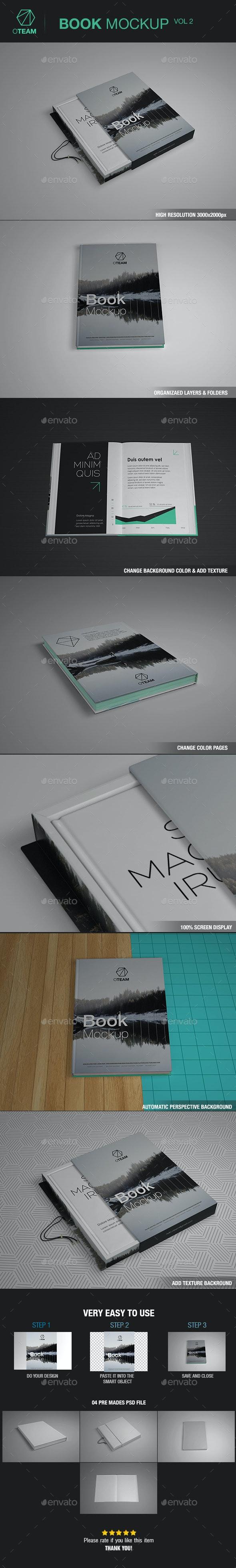 Books Mockup vol.02 - Product Mock-Ups Graphics