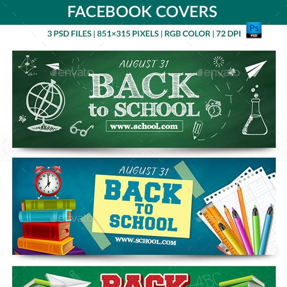 Back to School Facebook Covers