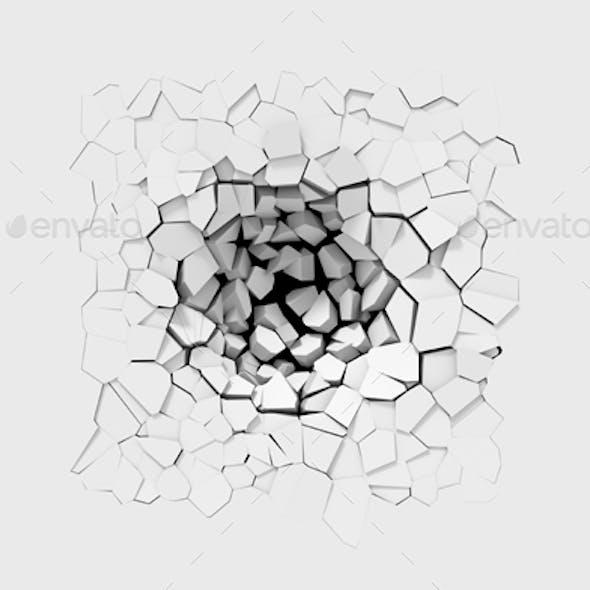 3D wall cracks