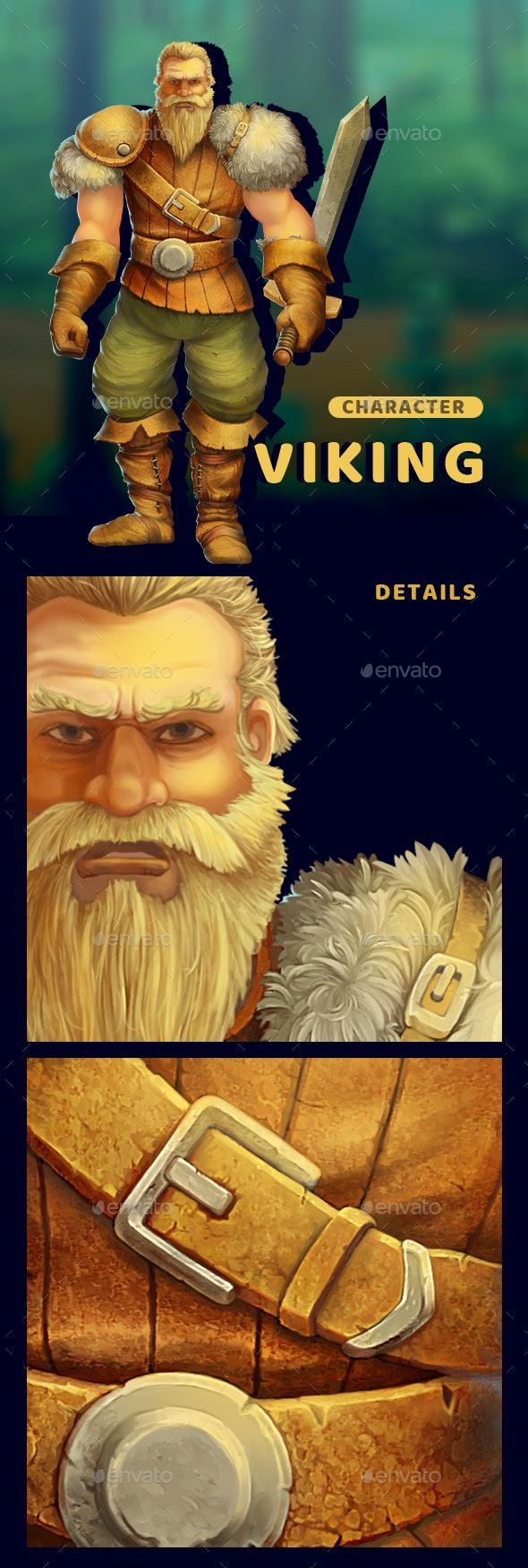 Viking - Character Ilustration - Miscellaneous Game Assets