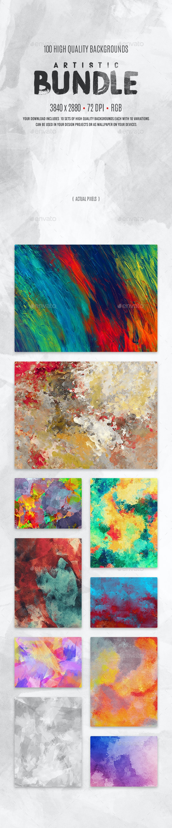 Artistic Background Bundle - Abstract Backgrounds