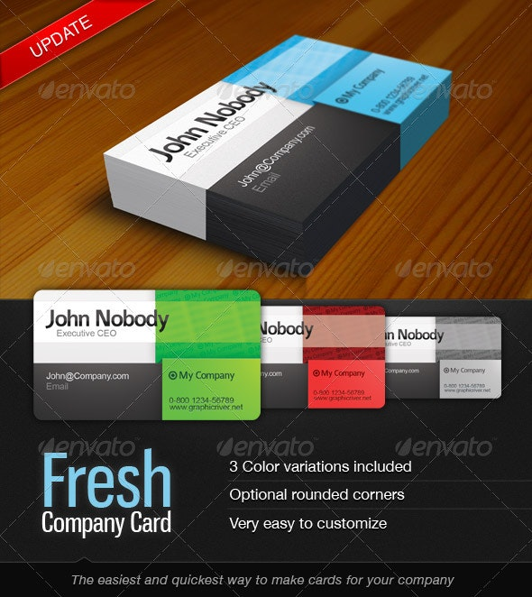 Fresh Card - Corporate Business Cards