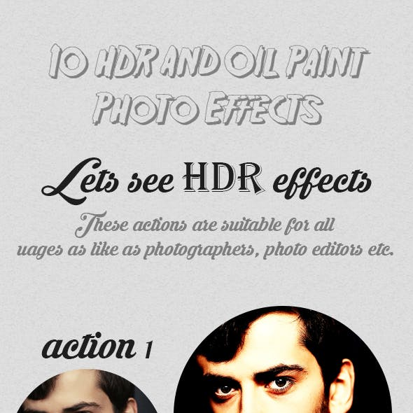 10 HDR And Oil Paint Photo Effects