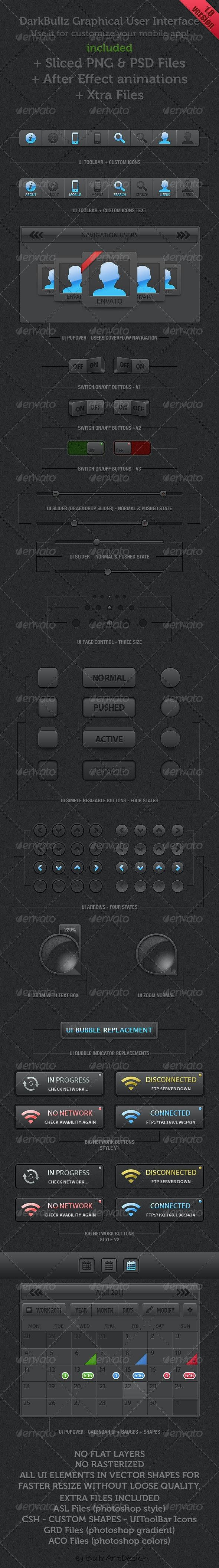 Dark Bullz UI - User Interfaces Web Elements