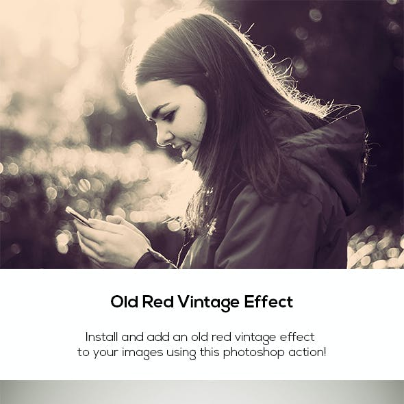 Old Red Vintage Effect