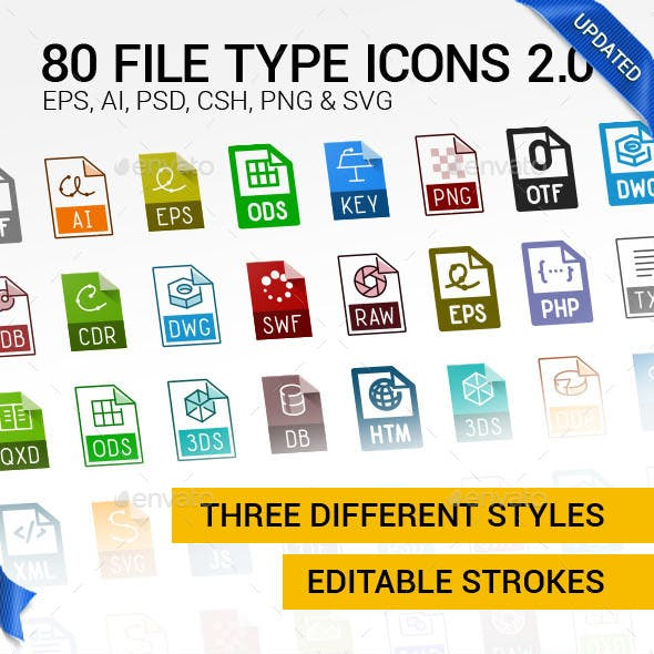 80 File Types Icons 2.0