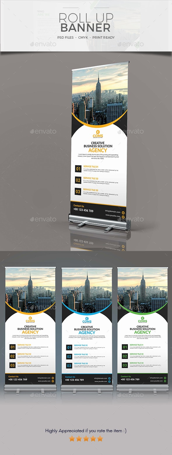 Corporate Roll Up banner 01 - Signage Print Templates