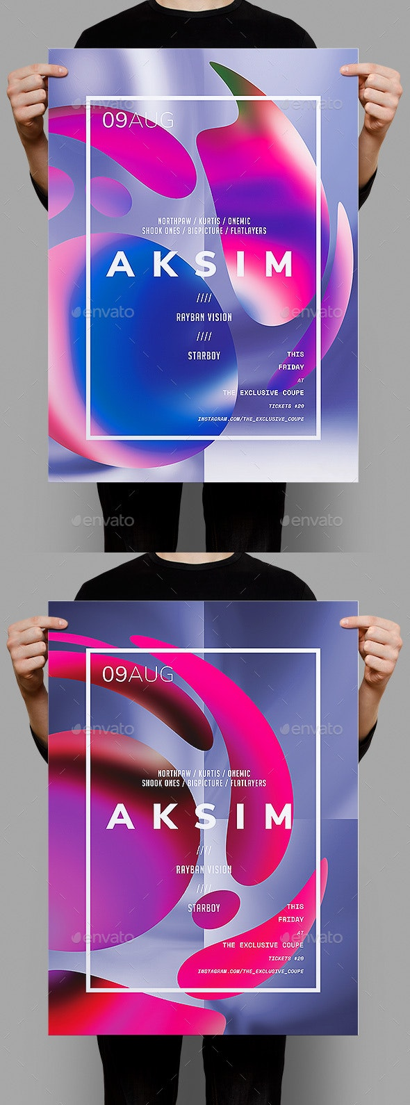 Aksim Poster / Flyer Template - Clubs & Parties Events