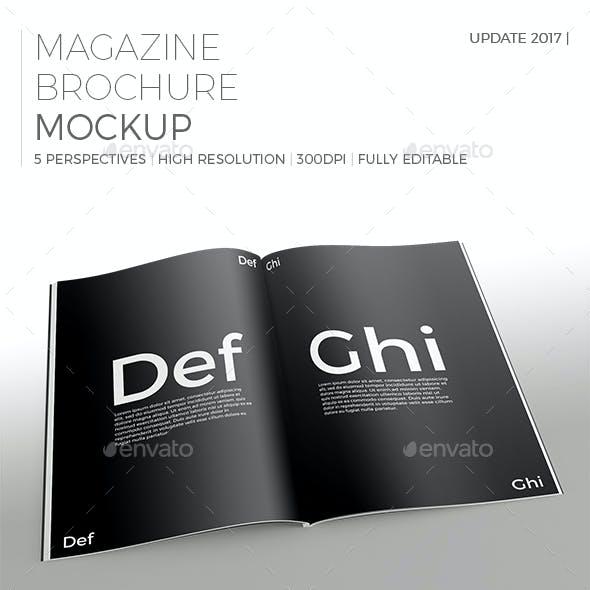Realistic Magazine/Brochure Mockup