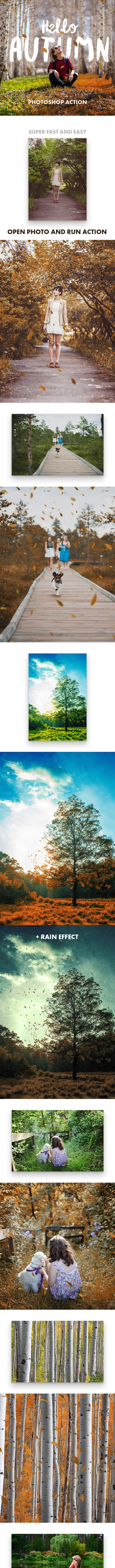 Hello Autumn - Photoshop Action - Photo Effects Actions