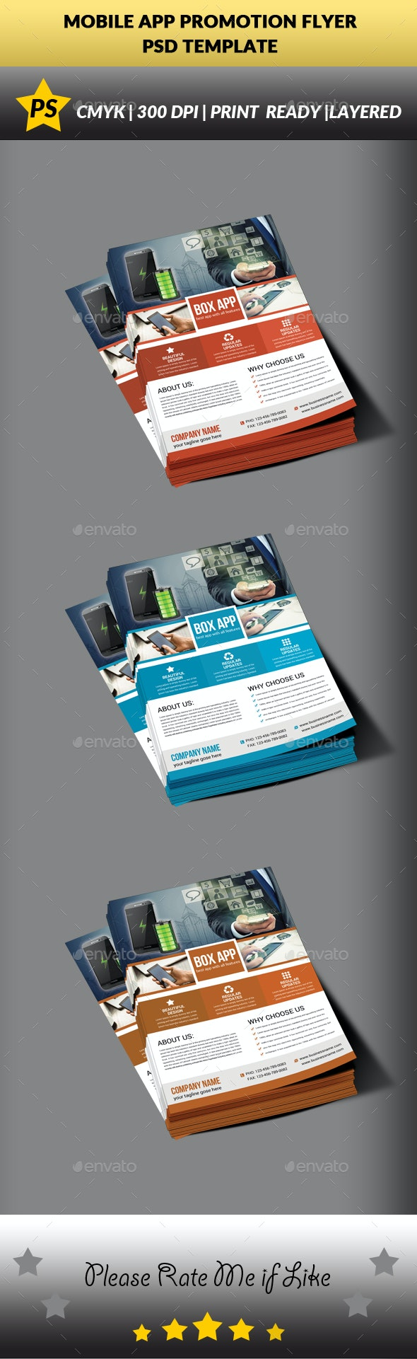 Mobile App Promotion Flyer Template - Corporate Flyers