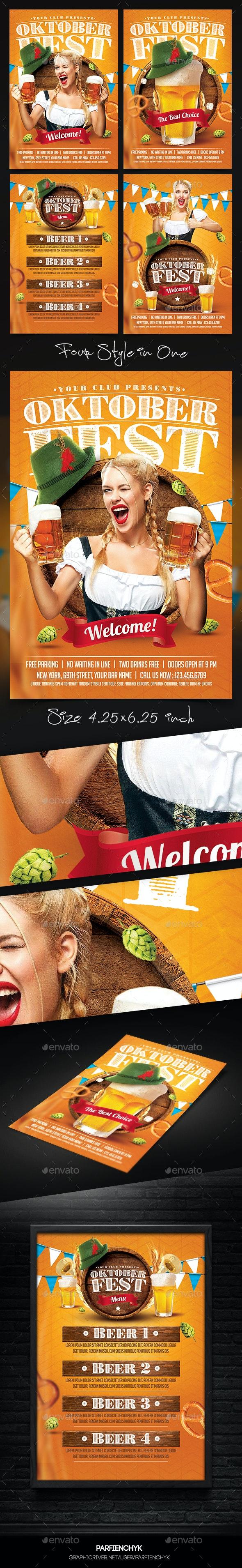 Oktoberfest Flyer - Clubs & Parties Events