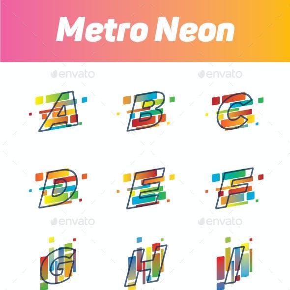 Metro Neon Alphabets