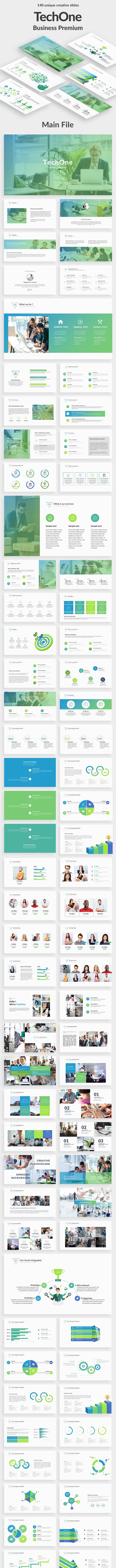 TechOne Business Powerpoint Template - Business PowerPoint Templates