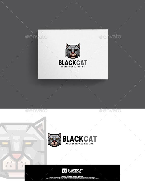 Black Cat Logo - Animals Logo Templates