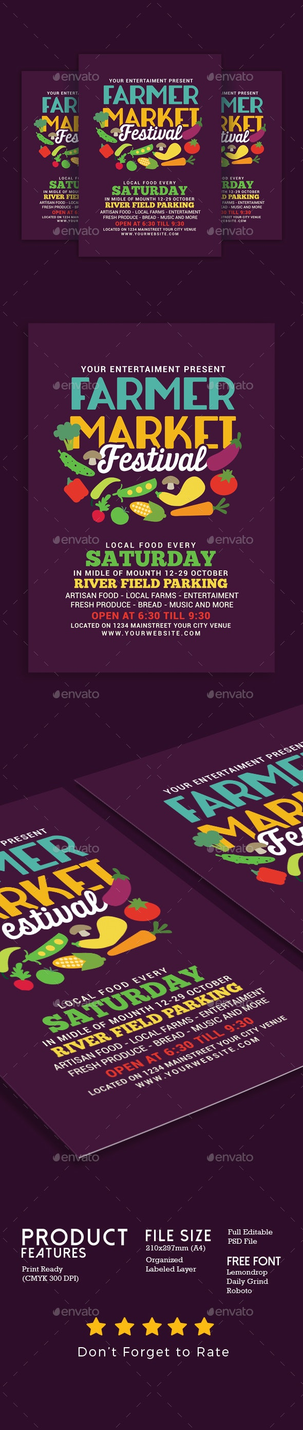 Farmer Market Festival - Events Flyers