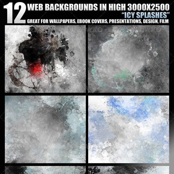 12 Web Backgrounds in High 3000x2500 Resolution
