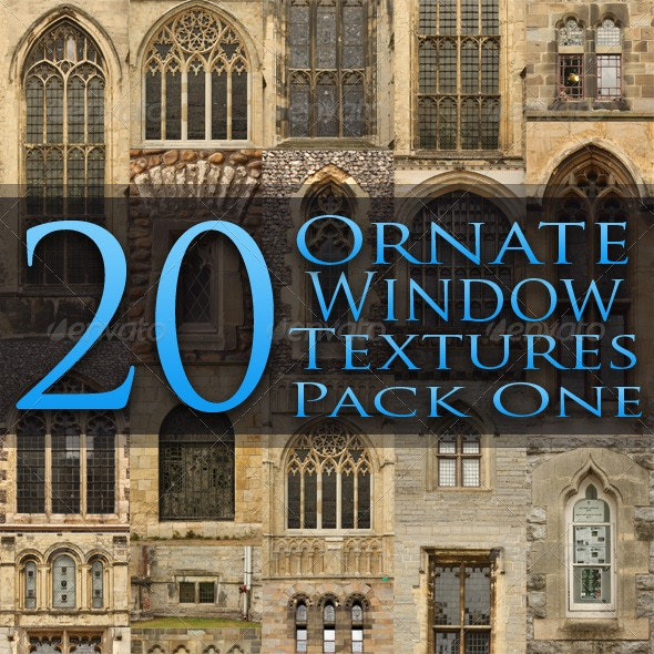 20 Ornate Window Textures - Pack One - Miscellaneous Textures