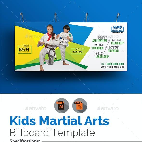 Kids Martial Arts Training Center Billboard