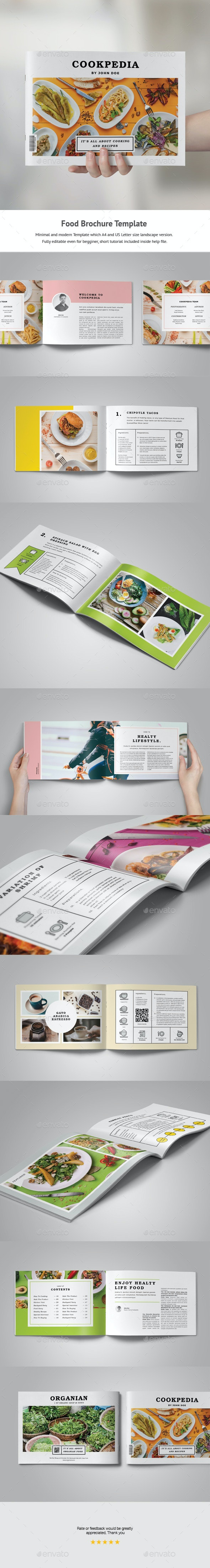Food Brochure Template - Portfolio Brochures