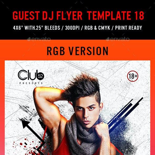 Guest DJ Flyer Template 18