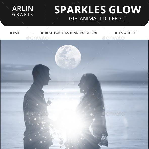 Gif Animated Sparkles Glow