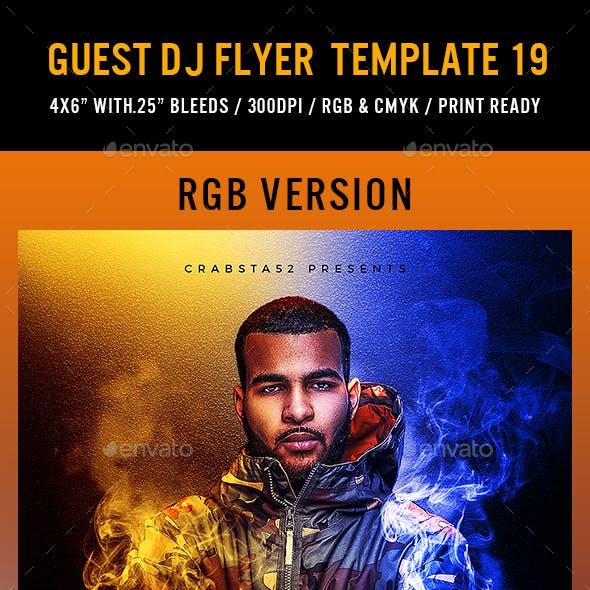 Guest DJ Flyer Template 19