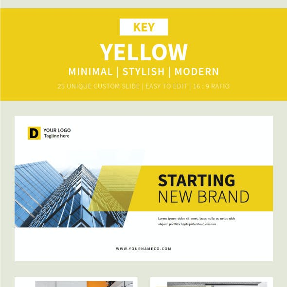 Yellow Keynote Template