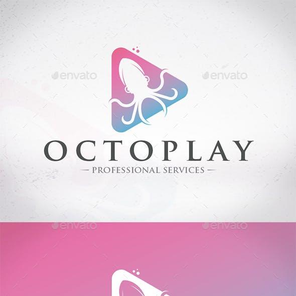 Play Octopus Logo Template