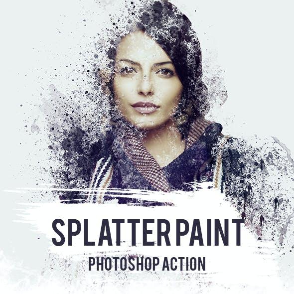 Splatter Paint Photoshop Action