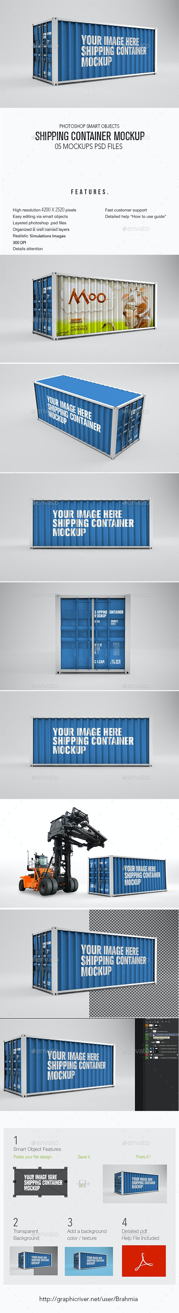 Shipping Container Mockup - Signage Print