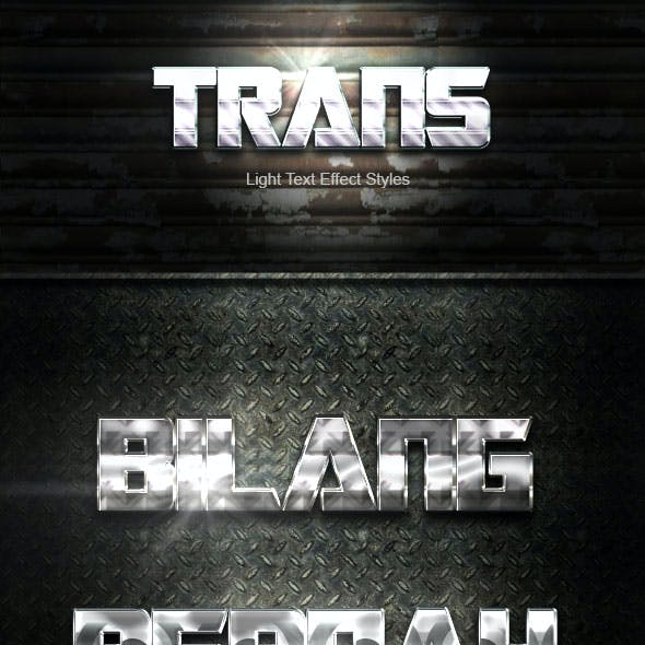 Trans Silver Text Effect V01