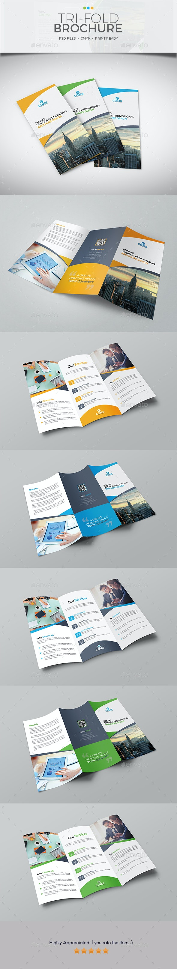 Trifold Brochure Template 12 - Corporate Brochures