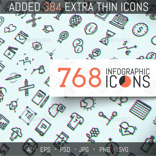 768 Infographic Icons Pack