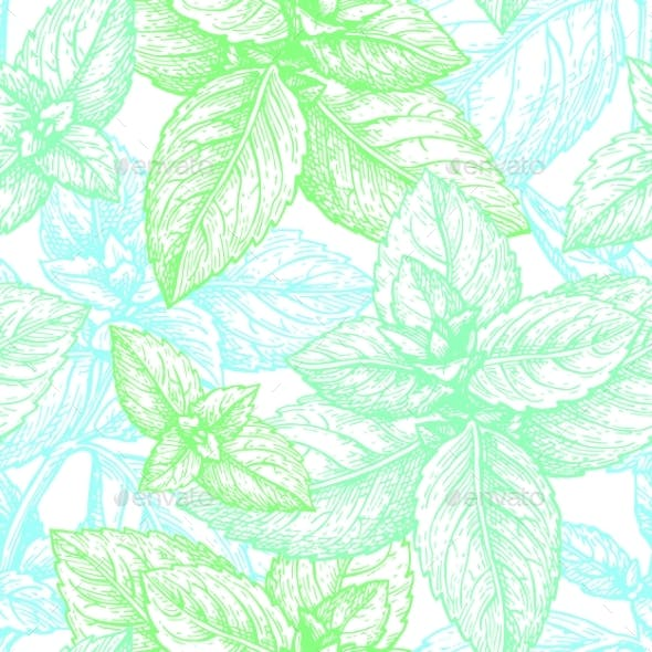 Mint Seamless Pattern.