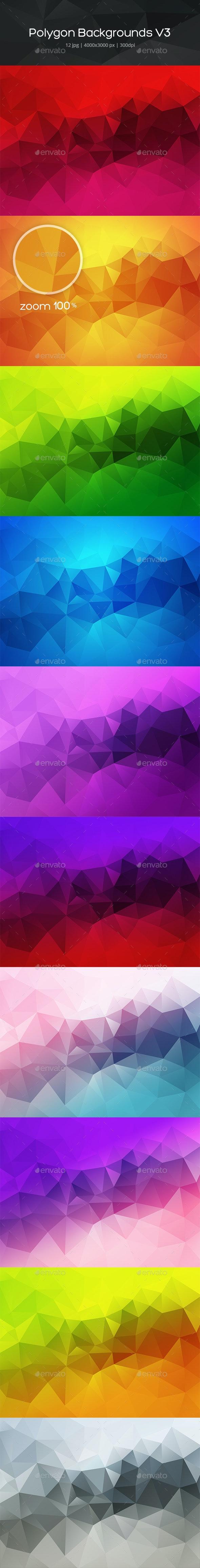 Polygon Backgrounds v3 - Backgrounds Graphics