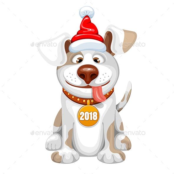 Happy Small Dog - New Year Seasons/Holidays