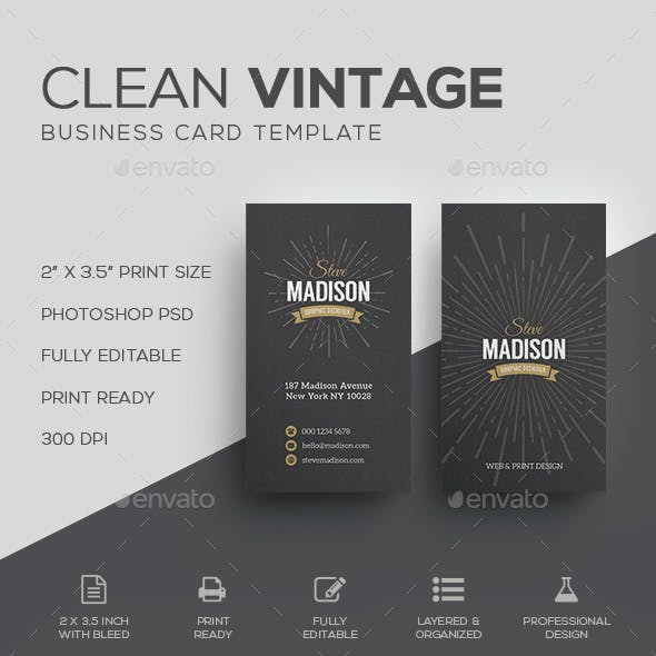 Retro / Vintage Business Card Template