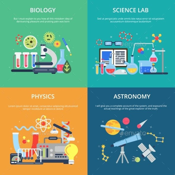 Concept Pictures with Science Symbols. School